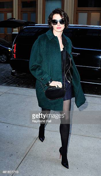 Actress Anne Hathaway is seen walking in Soho on January 20 2015 in New York City