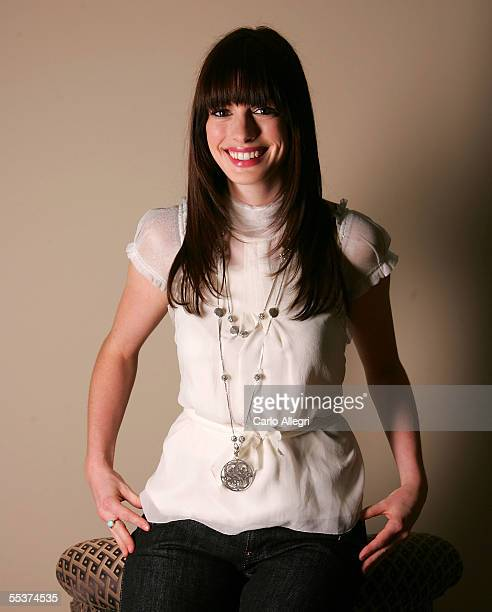 Actress Anne Hathaway poses for a portrait while promoting his film Brokeback Mountain at the Toronto International Film Festival September 10 2005...
