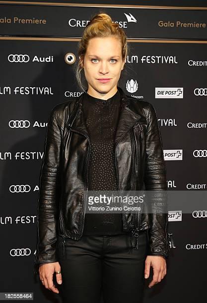 Actress Anne Haug attends 'Manner Zeigen Filme Frauen Ihre Bruste' Green Carpet on September 30 2013 in Zurich Switzerland
