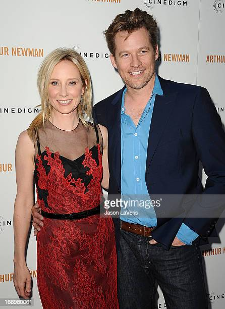 Actress Anne Heche and actor James Tupper attend the premiere of 'Arthur Newman' at ArcLight Hollywood on April 18 2013 in Hollywood California