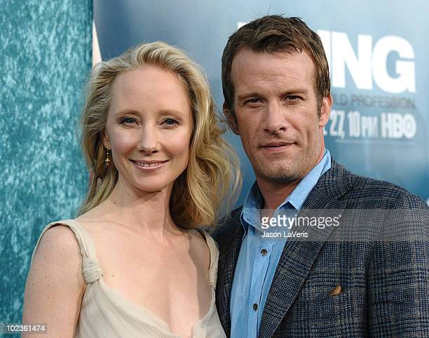 Actress Anne Heche and actor Thomas Jane attend the Season 2 premiere of HBO's Hung at Paramount Theater on the Paramount Studios lot on June 23 2010...