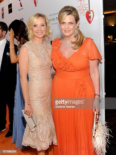 Actress Anne Heche and host Nancy Davis attend the 20th Annual Race To Erase MS Gala Love To Erase MS at the Hyatt Regency Century Plaza on May 3...