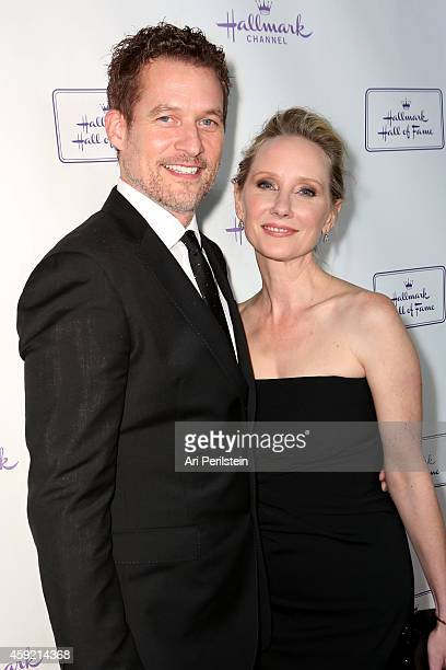 Actress Anne Heche and James Tupper arrive at Hallmark Hall of Fame's 'One Christmas Eve' Premiere Event at Fig Olive Melrose Place on November 18...