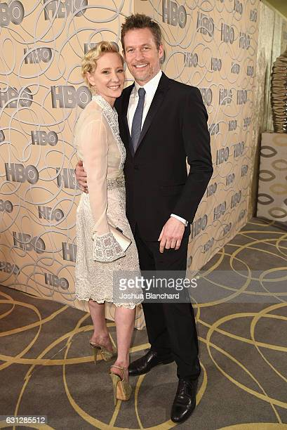 Actress Anne Heche and James Tupper attend HBO's Official Golden Globe Awards After Party at Circa 55 Restaurant on January 8 2017 in Beverly Hills...