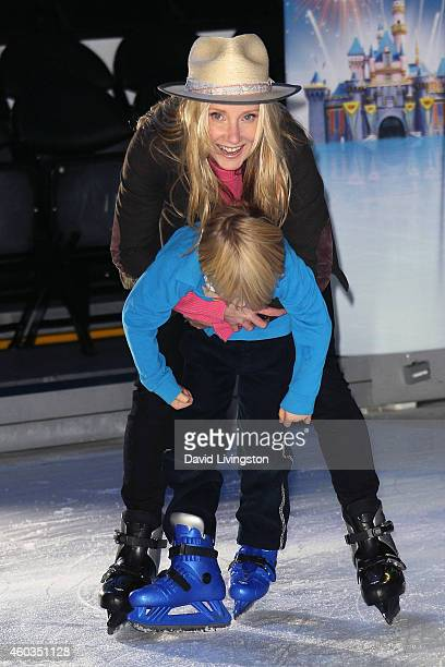 Actress Anne Heche and son Atlas Heche Tupper attend Disney On Ice presents Let's Celebrate at Staples Center on December 11 2014 in Los Angeles...
