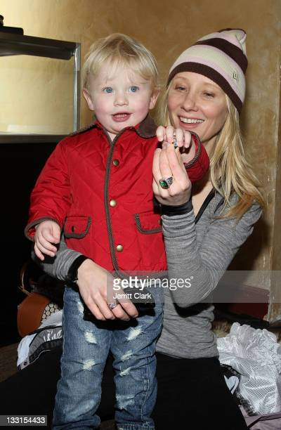 Actress Anne Heche and son Atlas Heche Tupper attend the TR Suites at the Gateway Center on January 22 2011 in Park City Utah