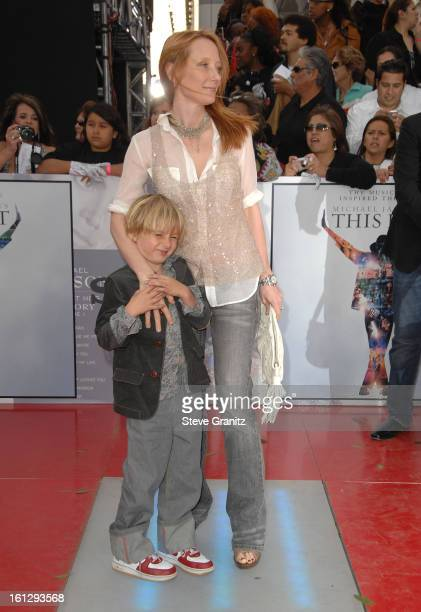 Actress Anne Heche and son Homer Heche Laffoon arrive at the Los Angeles Premiere of 'This Is It' held at Nokia Theatre LA Live on October 27 2009 in...