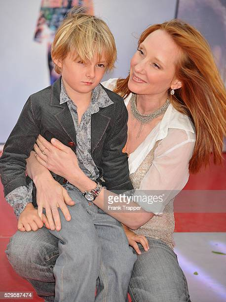 Actress Anne Heche and son Homer Heche Lafoon arrive at the premiere of Columbia Pictures' 'Michael Jackson's This Is It' held at the Nokia Theater L...