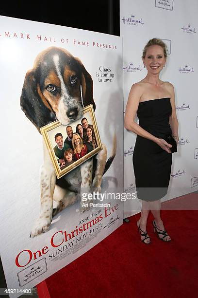 Actress Anne Heche arrives at Hallmark Hall of Fame's 'One Christmas Eve' Premiere Event at Fig Olive Melrose Place on November 18 2014 in West...