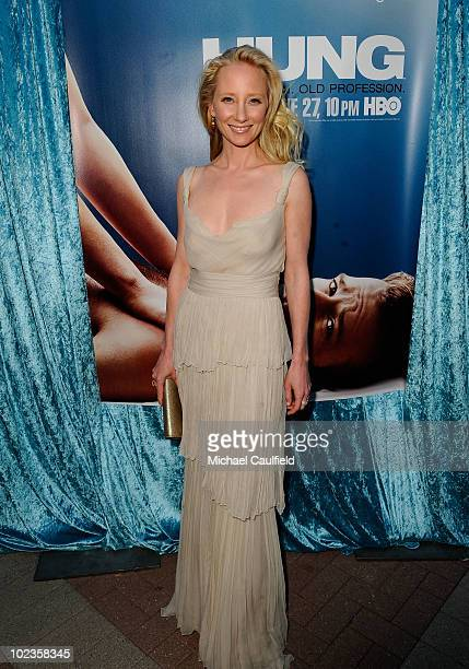Actress Anne Heche arrives at HBO's Hung Season 2 premiere at Paramount Theater on the Paramount Studios lot on June 23 2010 in Hollywood California
