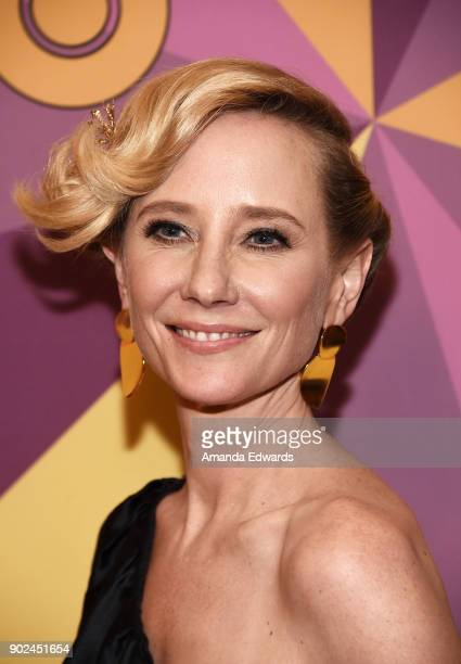 Actress Anne Heche arrives at HBO's Official Golden Globe Awards After Party at Circa 55 Restaurant on January 7 2018 in Los Angeles California