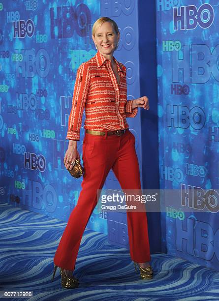 Actress Anne Heche arrives at HBO's Post Emmy Awards Reception at The Plaza at the Pacific Design Center on September 18 2016 in Los Angeles...