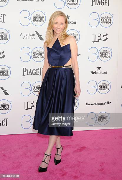 Actress Anne Heche arrives at the 2015 Film Independent Spirit Awards on February 21 2015 in Santa Monica California