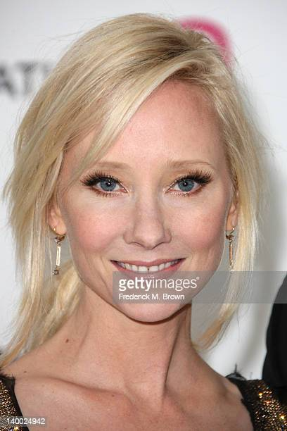 Actress Anne Heche arrives at the 20th Annual Elton John AIDS Foundation's Oscar Viewing Party held at West Hollywood Park on February 26 2012 in...