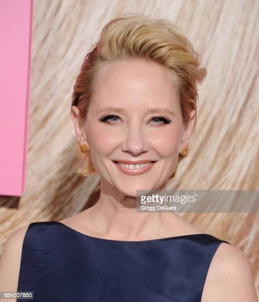 Actress Anne Heche arrives at the premiere of HBO's Big Little Lies at TCL Chinese Theatre on February 7 2017 in Hollywood California