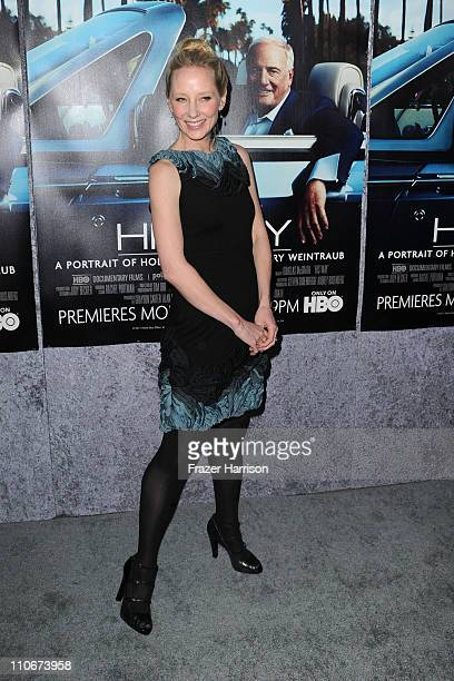 Actress Anne Heche arrives at the premiere of the HBO documentary 'His Way' at Paramount Studios on March 22 2011 in Hollywood California