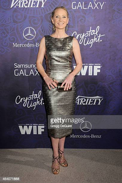Actress Anne Heche arrives at the Variety And Women In Film Annual PreEmmy Celebration at Gracias Madre on August 23 2014 in West Hollywood California