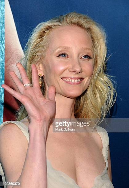 Actress Anne Heche arrives for the premiere of Hung Season 2 at Paramount Theater on the Paramount Studios lot on June 23 2010 in Los Angeles...