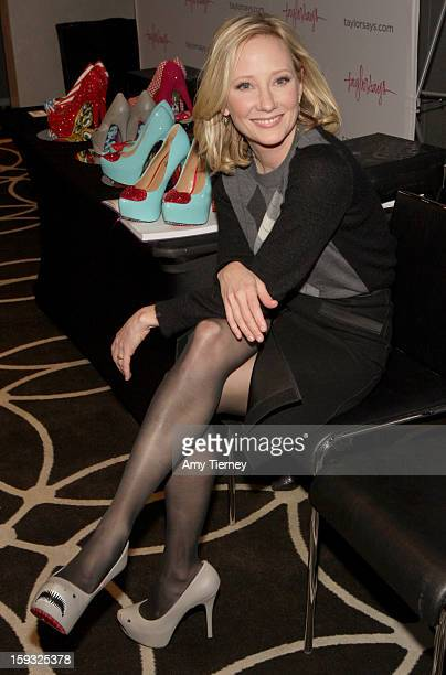 Actress Anne Heche attends Kari Feinstein's PreGolden Globes Style Lounge at the W Hollywood on January 11 2013 in Hollywood California