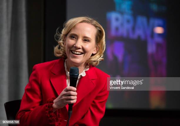 Actress Anne Heche attends SAGAFTRA Foundation Conversations screening of 'The Brave' at SAGAFTRA Foundation Screening Room on January 24 2018 in Los...