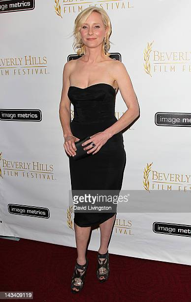 Actress Anne Heche attends the 12th Annual International Beverly Hills Film Festival opening night gala at the AMPAS Samuel Goldwyn Theater on April...