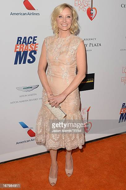 """Actress Anne Heche attends the 20th Annual Race To Erase MS Gala """"Love To Erase MS"""" at the Hyatt Regency Century Plaza on May 3, 2013 in Century..."""