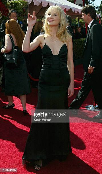Actress Anne Heche attends the 56th Annual Primetime Emmy Awards at the Shrine Auditorium September 19, 2004 in Los Angeles, California.