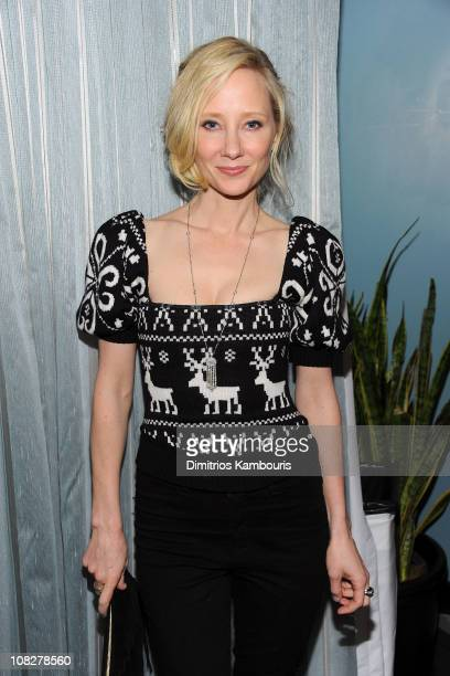 Actress Anne Heche attends the Cedar Rapids Party at the Sky Lodge Rooftop on January 23 2011 in Park City Utah
