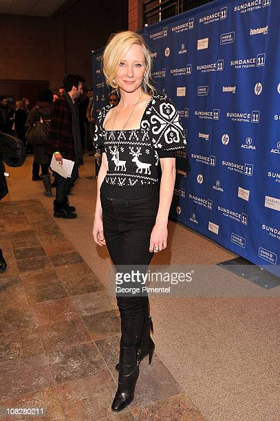 Actress Anne Heche attends the Cedar Rapids Premiere at the Eccles Center Theatre during the 2011 Sundance Film Festival on January 23 2011 in Park...
