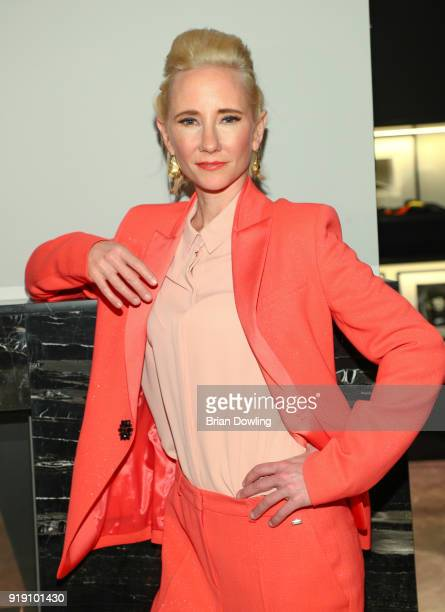Actress Anne Heche attends the Green Carpet Lounge hosted by the Ustinov Foundation on February 16 2018 in Berlin Germany