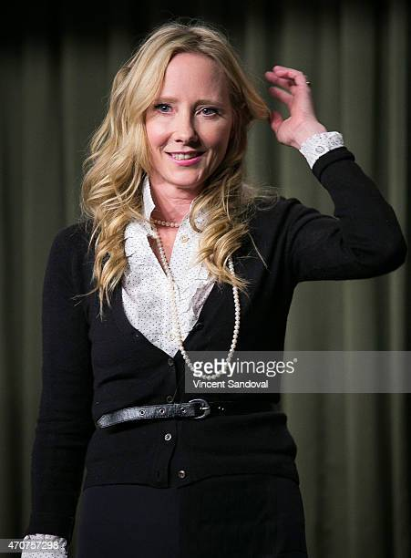 Actress Anne Heche attends The SAG Foundation Hosts Conversations with DIG star Anne Heche at SAG Foundation Actors Center on April 22 2015 in Los...