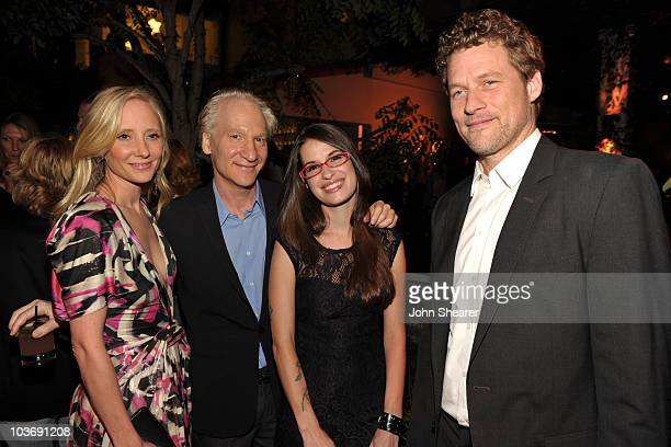 Actress Anne Heche TV Personality Bill Maher Cara Santa Maria and Coleman 'Coley' Laffoonattend the 2010 Entertainment Weekly and Women In Film...
