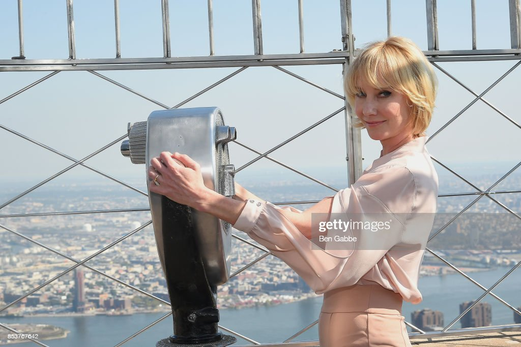 """Anne Heche & Mike Vogel Visit The Empire State Building To Promote Their Show """"The Brave"""" : News Photo"""