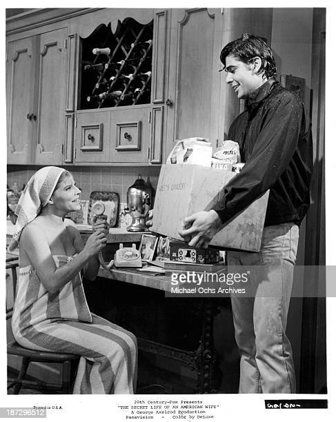 Actress Anne Jackson on set of the 20th CenturyFox movie 'The Secret Life of an American Wife' in 1968