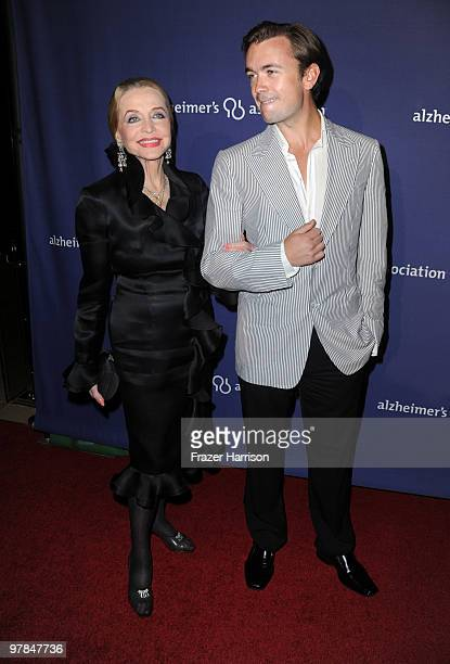 Actress Anne Jeffreys and guest arrives at the 18th Annual 'A Night At Sardi's' Fundraiser And Awards Dinner held a the Beverly Hilton Hotel on March...