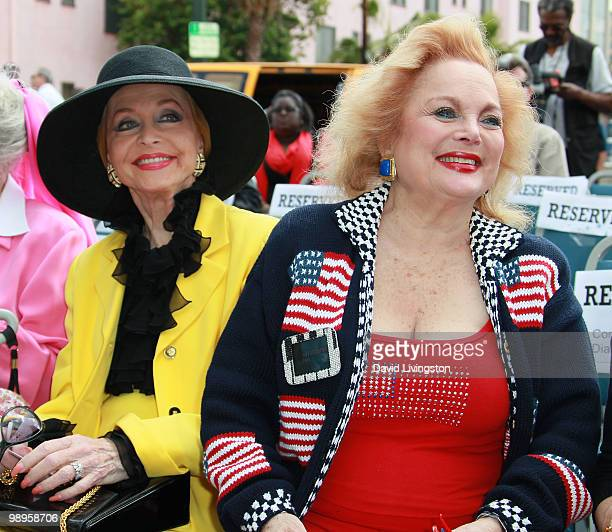 Actress Anne Jeffreys and singer/songwriter Carol Connors attend the Johnny Grant post office dedication at the Hollywood post office on May 10 2010...