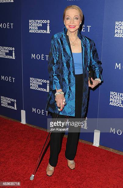 Actress Anne Jeffreys arrives at The Hollywood Foreign Press Association Installation Dinner at The Beverly Hilton Hotel on August 14 2014 in Beverly...