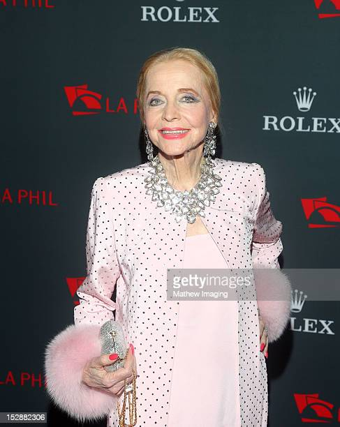 Actress Anne Jeffreys arrives at the Los Angeles Philharmonic 2012 Opening Night Gala at the Walt Disney Concert Hall on September 27 2012 in Los...