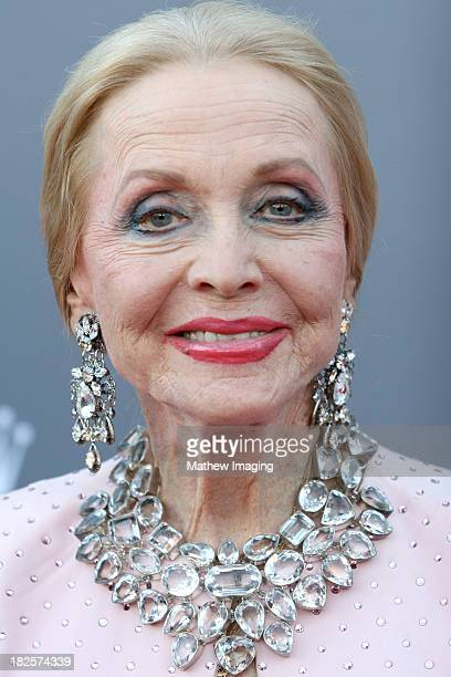 Actress Anne Jeffreys arrives at the Los Angeles Philharmonic's 10th Anniversary Celebration at Walt Disney Concert Hall on September 30 2013 in Los...
