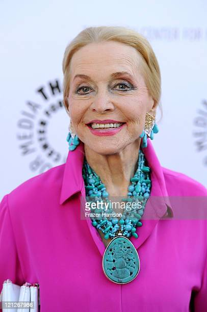 Actress Anne Jeffreys arrives at The Paley Center For Media's Reception For 'Debbie Reynolds The Exhibit' on August 16 2011 in Beverly Hills...