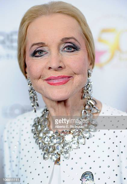 Actress Anne Jeffreys arrives to the Hollywood Walk of Fame's 50th Anniversary Celebration on November 3 2010 in Hollywood California