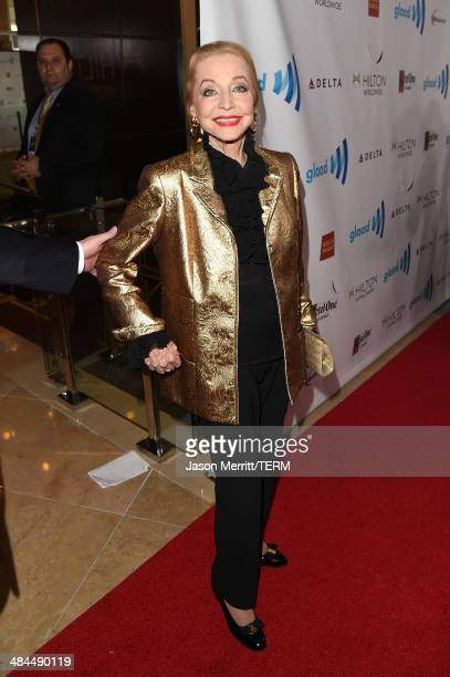 Actress Anne Jeffreys attends the 25th Annual GLAAD Media Awards at The Beverly Hilton Hotel on April 12 2014 in Los Angeles California