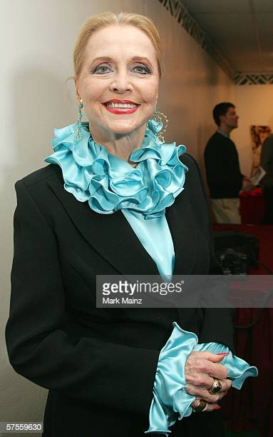 Actress Anne Jeffreys attends the book launch party of Just Outside The Spotlight on May 8 2006 at the Coronet Theatre in Los Angeles California