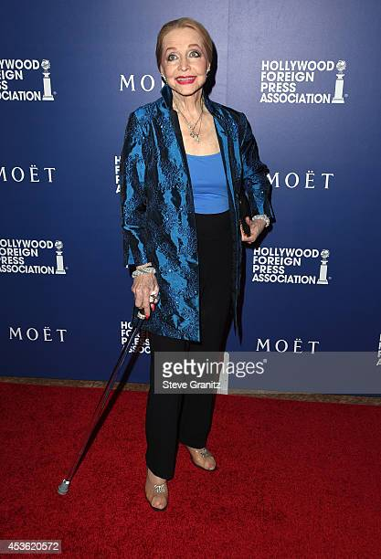 Actress Anne Jeffreys attends The Hollywood Foreign Press Association Installation Dinner at The Beverly Hilton Hotel on August 14 2014 in Beverly...