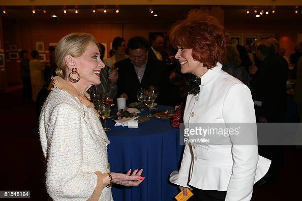 Actress Anne Jeffreys speaks with Jill St. John at A Centennial Tribute to Jimmy Stewart at The Academy of Motion Picture Arts and Sciences on June...