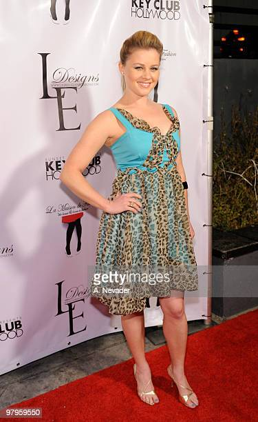 Actress Anne JudsonYager attends LA Rocks Fashion Week Lauren Elaine Fall 2010 Black Label at the Key Club on March 22 2010 in West Hollywood...