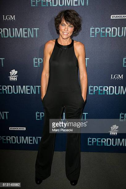 Actress Anne Le Nen attends the 'Eperdument' premiere at Cinema UGC Normandie on February 29 2016 in Paris France