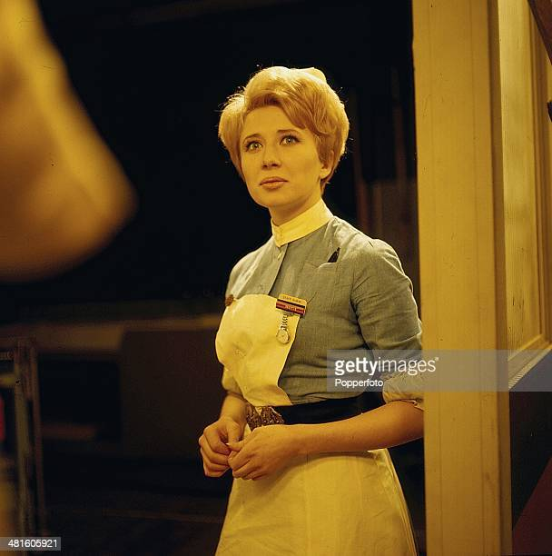 1968 Actress Anne Lloyd pictured in a scene from the television drama series 'Emergency Ward 10' in 1968