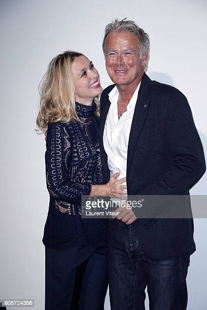 Actress Anne Marivin and Actor Franck Dubosc attend the Opening Ceremony of the 18th Festival of TV Fiction on September 14 2016 in La Rochelle France