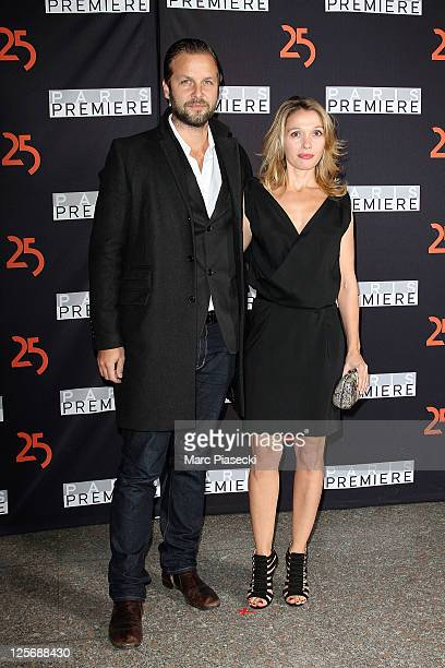 Actress Anne Marivin and her boyfriend Joachim Roncin attend the Paris Premiere 25th Anniversary Celebration at Grand Palais on September 20 2011 in...